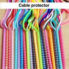 Cable Protective Sleeve Spring Twine Cover for Earphone Data Cable Bobbin Winder