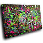 ZAB501 Colourful Cool Funky Modern Canvas Abstract Home Wall Art Picture Prints