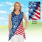 4TH of July Patriotic Decor Sleeveless Flag Tank Top Shirt for Women Ladies Girl