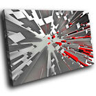 AB1154 Red black Gray Modern Retro Abstract Canvas Wall Art Large Picture Print
