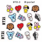 Kpop BTS BT21 Cartoon Acrylic Keychain Bag Pendant  Keyring TATA COOKY MANG
