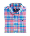 Vineyard Vines Cape Haze Plaid Whale Sport Shirt NWT Boys M 12 14 + L 16