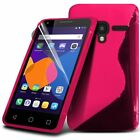 S-Gel Wave Tough Shockproof Phone Case Gel Cover Skin for Alcatel Pixi 3 4.0