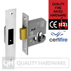 "Euro Cylinder Dead Lock case only 64/76mm (2.5/3"") Satin Stainless Steel"