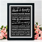 Wedding Dance Floor Rules Sign PERSONALISED Rules of the Dancefloor Band DJ Sign