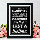 Hangover Alcohol PERSONALISED Wedding Signs Wedding Bar Drinks Table Signs