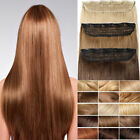 """24"""" Full Head Clip In Hair Extensions 100 Real Remy Human Hair Thick 150g 6Pcs"""
