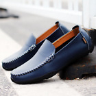 New Mens Driving Casual Boat Shoes Leather Shoes Moccasin Slip On Loafers