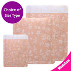 Many Sizes Matte Orange Aluminium Mylar Open Top Pouch Bag for Facial Mask O02