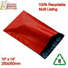 RED Mailing Bags Poly Postal Packing 10