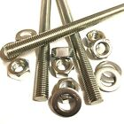 M16 A4 MARINE STAINLESS Threaded Bar + FULL NUTS + WASHERS - Rod Studding 16mm