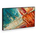 BF2AB1539P Retro Blue Orange Modern Abstract Framed Wall Art Picture Prints