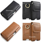 Leather Belt Loop Holster Cellphone Case Cover For iPhone 6S 7 8 Plus & Samsung