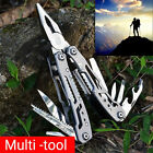 Stainless Steel Folding Pliers Outdoor Camping Multi Survival Tool Flowery