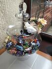TRADITIONAL VINTAGE SQUAT  WEDDING PARTY FOOTED  JAR GLASS BONBON SWEET JAR NEW