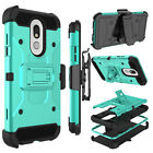 For LG Stylo 5/ Stylo 4/ 4 Plus Shockproof Clip Holster Rubber Armor Case Cover