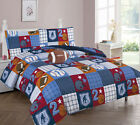 Boy Kids Teens Patchwork Sports Basketball Bed In a Bag COMFORTER Sheet Set