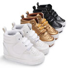 0-18M Toddler Shoes Baby Boy Girl PU Ankle Boots Crib Shoes Anti-slip Sneaker US