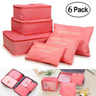 Travel Storage Bags Multi-functional Clothing Luggage Organizer bag for 6 sets