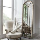 HOME MIRROR WEATHERED LOOK  chic, full length, panelled window wall mirror MM86