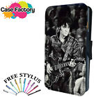 ELVIS PRESLEY PLAYING GUITAR ON STAGE - Leather Flip Wallet Phone Case Cover