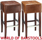 CIROCCO LEATHER BAR STOOL IN BROWN AND TAN