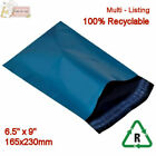 BLUE Metallic Mailing Postal Packaging Bags 6.5
