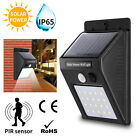 1-8x Outdoor Led Solar Wall Lights Pir Motion Ip65 Garden Security Fence Lamp Uk