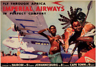 VINTAGE IMPERIAL AIRWAYS FLY THROUGH AFRICA  POSTER