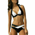 Halter Top Bandage Push Up Padded Bra Set Bikini SwimSuit Swimwear Beachwear US