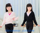 Child Ballet Dance Gymnastics Knit Wrap Sweaters Warm Up Crossover Cardigan Tops