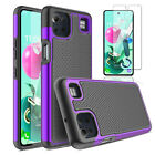For LG K92 5G Phone Case,Hybrid Hard Armor Rugged Cover/Glass Screen Protector