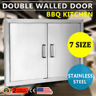 "NEW 31"" OUTDOOR KITCHEN / BBQ Islet STAINLESS STEEL DOUBLE ACCESS DOOR USA"