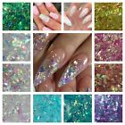 Kyпить Unicorn Flakes * Cosmic Mylar Glitter Mix * Iridescent Rainbow Clear Nail Art  на еВаy.соm