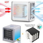 Mini Desktop Air Conditioner Cooling Fan Portable Cooler + Replacement Filter