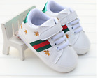 Newborn Baby Boy Girl Crib Shoes Toddler White Sneakers Pre Walker Trainers 0-12