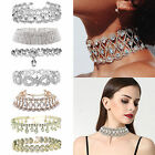 Prom Choker Bridal Bling Necklace Party Diamante Crystal Rhinestone Jewelry Uk