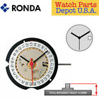 Harley Ronda 585 Quartz Watch Movement, 3 Hands Date at 3 or 6 (Swiss Made) image