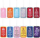 Embroidered Luggage Tag Keep Calm Keychain Keyholder Gift Embroidery Key Chain