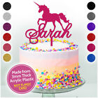 PERSONALISED Happy Birthday UNICORN Cake Topper ANY NAME Custom Decorations