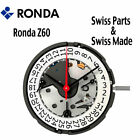 Harley Ronda Z60 Quartz Watch Movement, 3 Hands D4 (Swiss Parts & Swiss Made) image