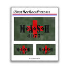M*A*S*H MASH 4077th Mobile Army Surgical Hospital 3 pc. Decal Collection