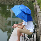 Foldable Sun Umbrella Hat Outdoor Golf Fishing Camping Headwear Head Rain Cap AU