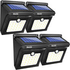 4X12 LED Solar Power PIR Motion Sensor Wall Light Outdoor Waterproof Garden Lamp