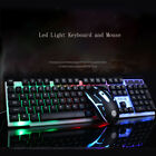 Rainbow Gaming Keyboard and Mouse Set LED Multi-Colored Backlight Mouse Mice
