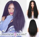 Italian Yaki Full Lace Front Wigs Remy Human Hair Wigs African American Women 7A