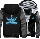King and Queen Crown Couples Unisex Hoodie Fashion Cosplay Jacket Winter coats