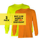 3 PACK AAA ALSTYLE CASUAL MENS LONG SLEEVE T SHIRT PLAIN SHIRTS COTTON TEE WORK image