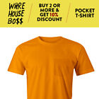 PROUSA MENS POCKET SHORT SLEEVE T SHIRT POCKET SHIRTS PLAIN TEE CASUAL T SHIRTS image