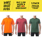 5 PACK PROCLUB PRO CLUB PLAIN MENS SHORT SLEEVE T SHIRT COMFORT COTTON SHIRTS  image